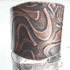 Psychedelic Hippie Copper Cuff Bracelet Boho 🌺HP